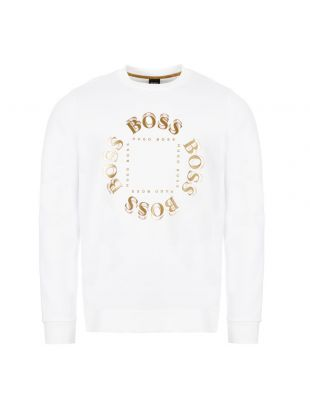 BOSS Athleisure Sweatshirt Salbo Circle| 50426220 112 White| Aphrodite 1994
