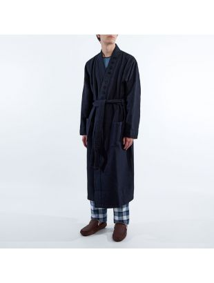 Waffle Dressing Gown - Navy