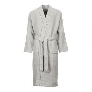 BOSS Bodywear Dressing Gown | 50424726 032 Grey Waffle