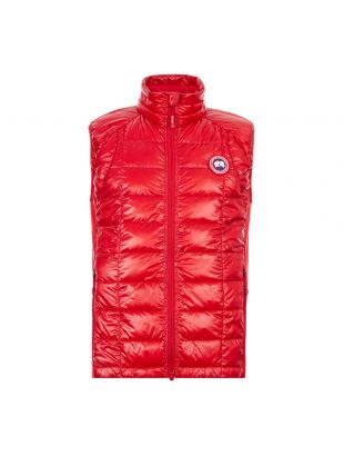 Canada Goose Hybridge Lite Gilet 2702M 11 In Red At Aphrodite Clothing