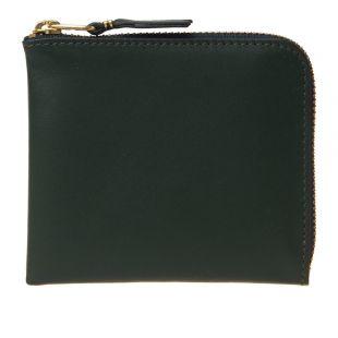 Comme des Garçons Classic Corner Zip Wallet SA3100 GRN Bottle Green