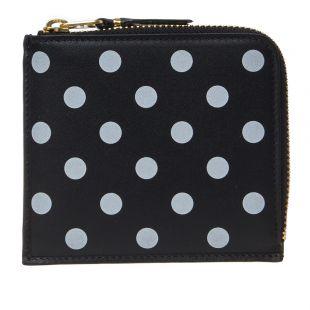 Comme des Garcons Wallet Polka Dot | SA3100PD Black