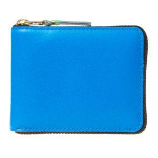 Comme des Garçons Super Fluo Zip Wallet SA7100SF BLU Blue