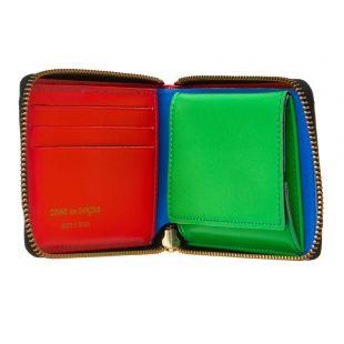 Super Fluo Zip Wallet - Blue