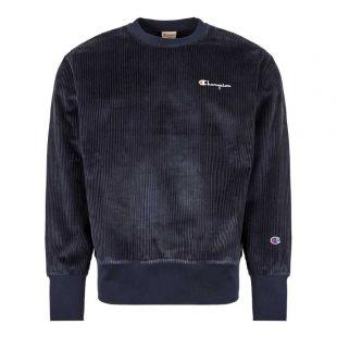Champion Corduroy Sweatshirt 213690|BS501|NNY In Navy At Aphrodite1994