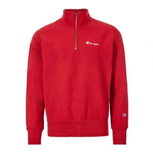 Half Zip Sweatshirt - Red