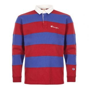 Champion Rugby Shirt | 213661|RS517|RDD Red And Blue | Aphrodite Clothing
