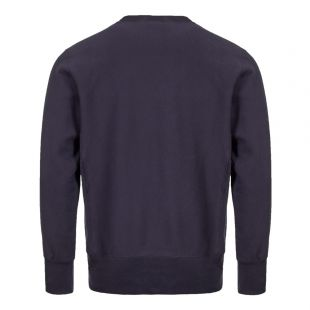 Sweatshirt Script Logo - Navy