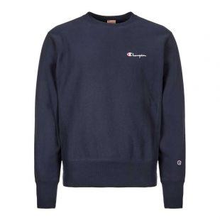 Champion Sweatshirt 213603|BS501|NNY In Logo Navy At Aphrodite Clothing