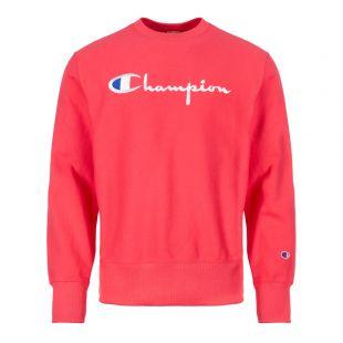 Champion Sweatshirt Script Logo 212576 PS061 Pink