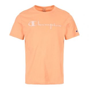 Champion T-Shirt Script Logo 213081 PS108 Coral