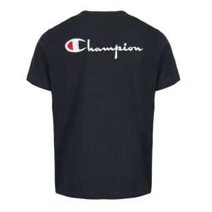 T-Shirt Back Logo - Navy