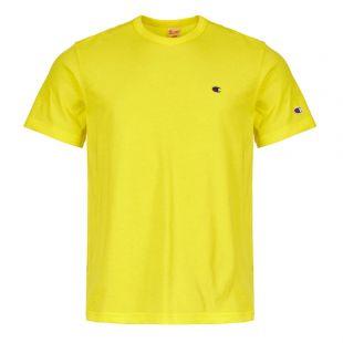 champion t-shirt back logo 212974 YS062 BTP yellow