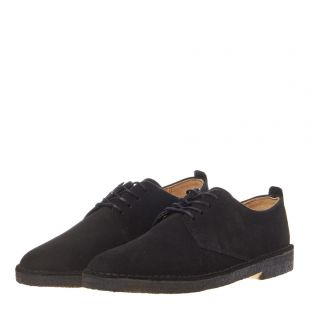 Desert London Shoes - Black Suede