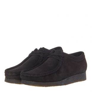 Wallabee Shoes - Black Suede