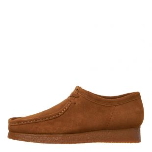 Clarks Originals Wallabee Shoes 26133280 in Cola Suede