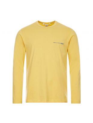 Commes des Garçons Long Sleeve t-shirt, FG T019 SS21 3 Yellow, Aphrodite 1994