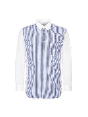 Comme des Garcons SHIRT Stripe Shirt | White / Blue