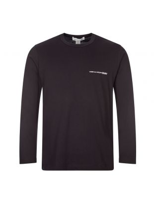 comme des garcons shirt long sleeve t-shirt | S28118 1 black