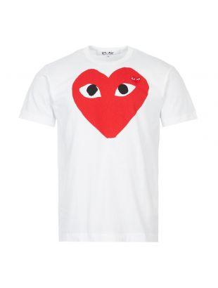 T-Shirt Large Double Heart Logo - White