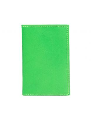 Comme des Garcons Super Fluo Wallet   Green