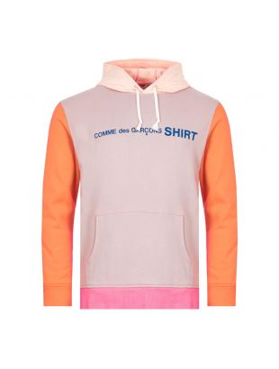 Comme des Garcons SHIRT Hoodie | W28118 1 Pink Mix