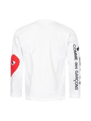 Long Sleeve Arm Logo & Heart T-Shirt - White