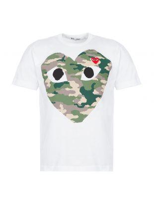 T-Shirt Camo Heart - White