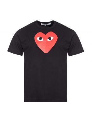 Comme des Garcons PLAY Heart Logo T-Shirt | Black