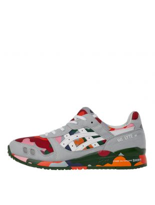 comme des garcons shirt x asics gel-lyte iii trainers W28601 multi