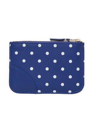 Polka Dot Wallet - Navy