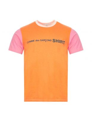 Comme Des Garçons T-Shirt | W28120 1 Orange / Pink | Aphrodite
