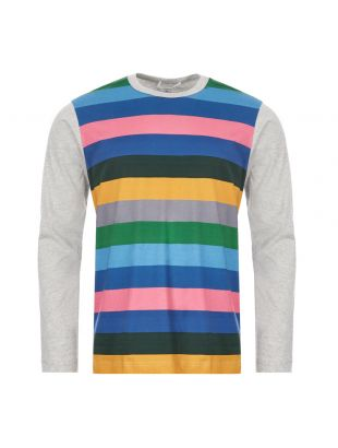 Comme Des Garcons SHIRT Long Sleeve T-Shirt | S28102 2 Multi Stripe