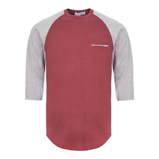 Comme Des Garcons SHIRT 3/4 Sleeve T-Shirt | S28102 3 Grey / Burgundy