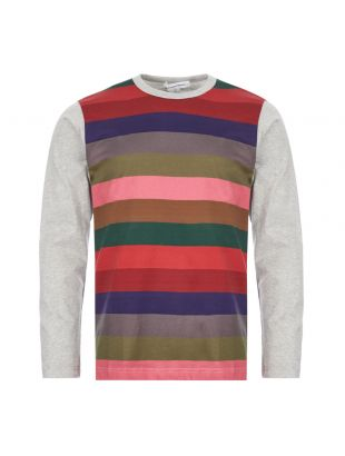 Comme Des Garcons SHIRT Long Sleeve T-Shirt | S28102 3 Multi Stripe