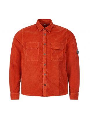 cp company corduroy shirt MSH288A 0058990 486 rust