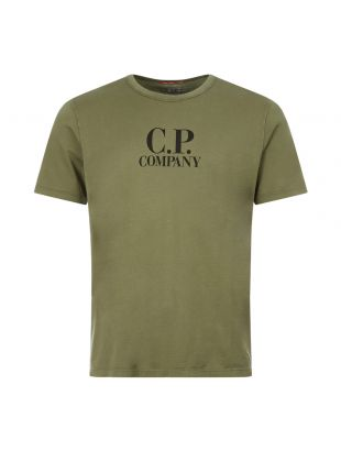 CP Company T-Shirt Logo Print   MTS022A 000444O 693 Olive    Aphrodite
