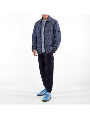 Zipped Overshirt - Ombre Blue