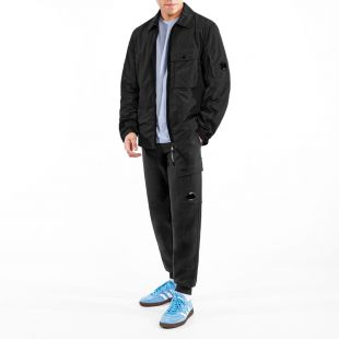 Zipped Overshirt - Black