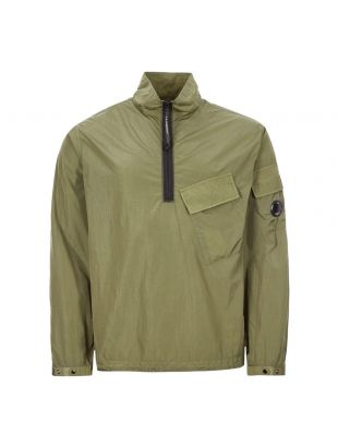 cp company overshirt chrome quarter zip MOS046A 005148G 660 khaki green
