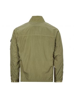 Overshirt Chrome Quarter Zip - Khaki Green