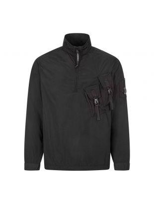 CP Company Half Zip Overshirt   MOS145A 005148G 999 Black