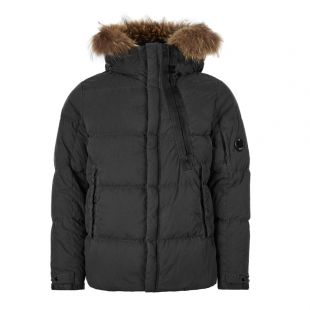 Hooded Fur Jacket - Black