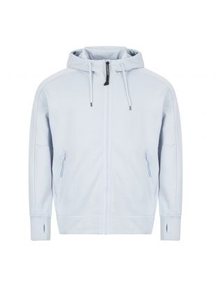 cp company goggle hoodie zip MSS012A 005160W 817 light blue