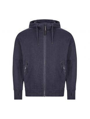 cp company goggle hoodie zip MSS012A 005160W 888 navy