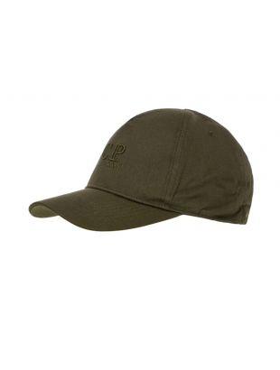 cp company cap logo MAC228A 005279A 683 ivy green