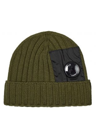 CP Company Beanie | MAC236A 005509A 678 Olive | Aphrodite Clothing