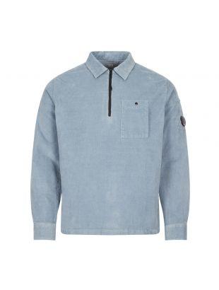 CP Company Corduroy Shirt Half Zip   MSH0287A 005899O 838 Blue