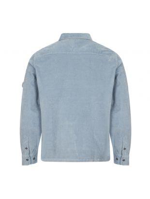 Corduroy Shirt Half Zip - Blue