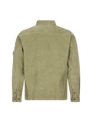Corduroy Shirt Half Zip - Olive